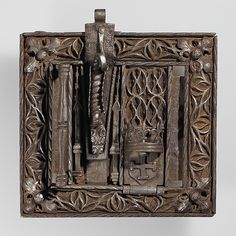 Lock Date: 15th century Culture: French Medium: Iron Dimensions: Overall: 6 x 6 3/8 in. (15.2 x 16.2 cm)
