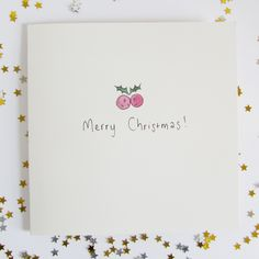 Holly Christmas Card - jammy and jelly
