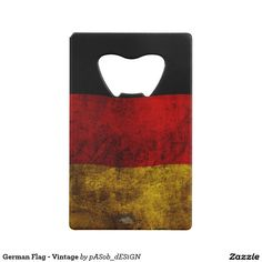 German Flag - Vintage Wallet Bottle Opener