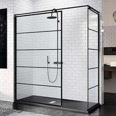 Novellini Kuadra H Striper Dusjvegg cm, Sort Matt/Klart Glass - vvskupp. Lake House Bathroom, Bathroom Bath, Retro Bathrooms, Dream Bathrooms, Bathroom Showrooms, Loft, Home Additions, Duravit, Bathroom Inspiration