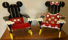 Kids Mickie and Mini mouse chairs