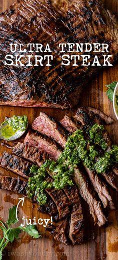 Skirt Steak Recipes, Steak Marinade Recipes, Grilled Steak Recipes, Grilling Recipes, Meat Recipes, Skirt Steak Marinades, Simple Steak Recipes, Grilled Steaks, Eating Clean