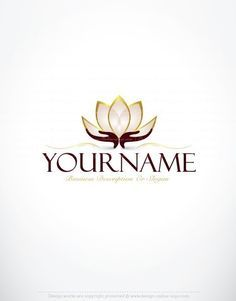 Exclusive Logo Design: Lotus Flower Logo Images + FREE Business Card. Ready made Exclusive design with a Lotus Flower logo image