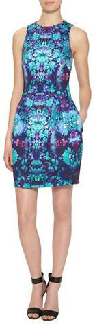 Nicole Miller Graphic Print Dress $375 $140.62