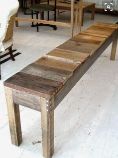 Make A Bench Out Of Old Farm Wood To Keep In Garage For Sitting And Taking Boots Off Mud Room