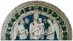 Luca della Robbia, Madonna and Child between two angels, 1475.