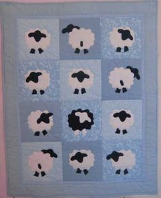 Sheepzzz Blue Baby Quilt