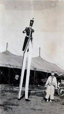 Circus performer on stilts