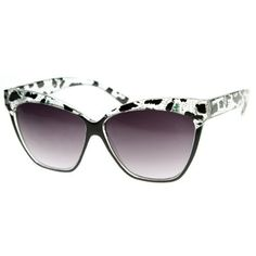 Womens Oversized Cat Eye Sunglasses with Printed Brow Detail Triple Optic. $9.99. Only from Triple Optic will you receive a 100% Satisfaction Guarantee, unrivaled Customer Care, unconditional Full Warranty policy, and a free microfiber pouch included with every pair.. Designer Inspired Frame. Lens Height:48mm Lens Width:62mm Bridge:14mm Frame Total:150mm. Lightweight For Superior Comfort. Excellent Durability and Craftsmanship