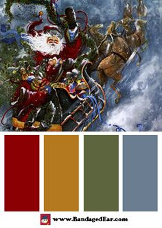 Christmas Color Palette: Windswept Goodbye, Art Print by Peggy Abrams