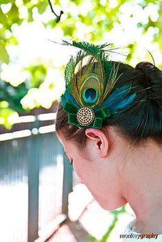Peacock Hair Fascinators