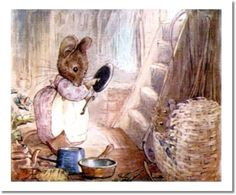 "'The Tale of Two Bad Mice', 1904 -- Beatrix Potter. ""She also has some useful pots and pans, and several other things. John Wright, Beatrix Potter Illustrations, Beatrice Potter, Peter Rabbit And Friends, Cute Mouse, Children's Book Illustration, Animal Illustrations, Cumbria, Illustrators"