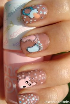 Baby inspired nails - cute for expecting mothers