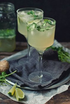 Great Drink for a Backyard BBQ: Ginger & Cilantro Margaritas