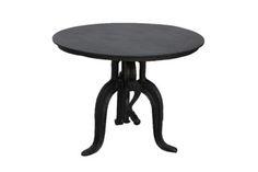 Industrial Loft Crank End Table-Metal Top