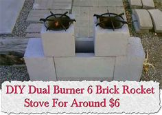 At living green and frugally we aim to provide you with lots of great tips and advice on DIY Dual Burner 6 Brick Rocket Stove For Around $6