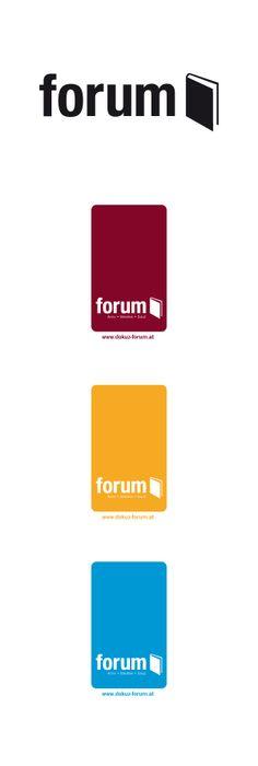 """Wortbildmarke, """"forum"""" Datenarchive aus der Region Waidhofen/Ybbs. Logo Design"""