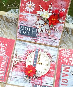 Christmas exploding box + photo tutorial... Welcome to my blog! This time I have for youa photo tutorial for the decoration ofa Christmas exploding box...  I applied a l...