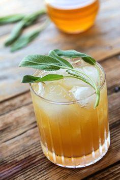 Grilled Grapefruit & Sage Cocktail | HonestlyYUM