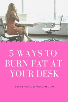 5 Ways to Burn Fat at a Desk Job How to stay active and burn fat while sitting at a desk. Chair workouts, hacks and tips to stay healthy and fit at a desk job. Desk Workout, Tummy Workout, Belly Fat Workout, Exercise At Desk, Workout Fun, Workout Motivation, Detox Cleanse For Bloating, Detox Cleanse For Weight Loss, Stubborn Belly Fat