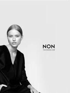 NON campaign AW14/15 Malwina Garstka Modelplus photo. Kasia Bielska thisisnon.com black 100% merino wool dress
