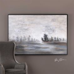 Uttermost Evening Mist Landscape Art 73x49h