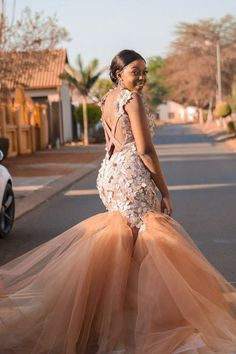 Custom prom zene pristinesa dress