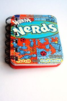 Recycled Nerds Candy Box Book  Blue and Orange by PretzelsNPumpkin
