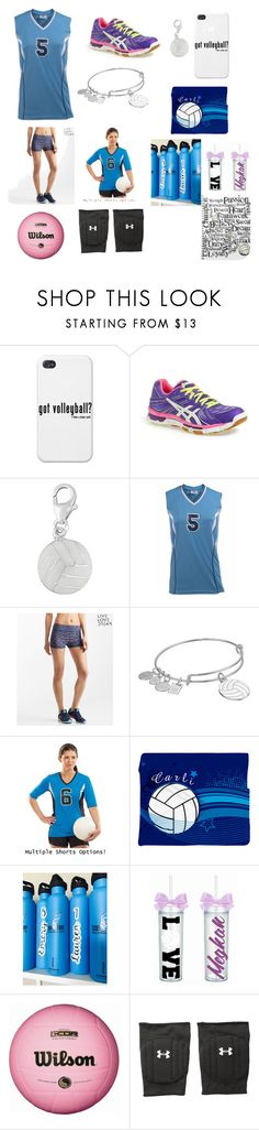 """""""Volleyball 🏐🏐"""" by amberlyng ❤ liked on Polyvore featuring Asics, Aéropostale, Alex and Ani and Under Armour"""