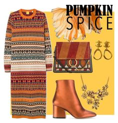 A fashion look from October 2017 featuring colorful dresses, leather boots and studded handbags. Browse and shop related looks. Below The Knee Dresses, Chloe Purses, Pumpkin Spice, Ankle Booties, Salvatore Ferragamo, Spices, Chanel, Fashion Looks, Polyvore