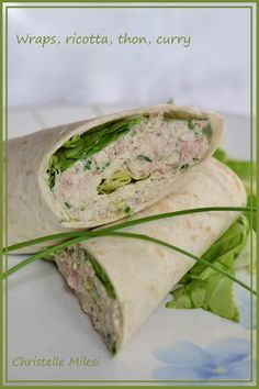 Wraps, ricotta, thon, curry