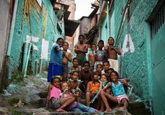 """Typographic intervention"" by street art gang Boa Mistura in Brazil's favelas."