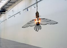 Bird light : Metal sculpture/lampshade by Hommin -- fun to hang in the birdcase or above the investigate zone?