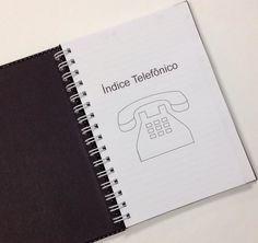 Agenda Índice Telefônico Poá Preto 15x21