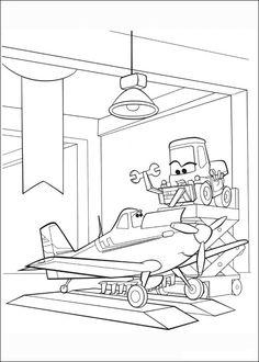 Desenhos para pintar Aviões 76
