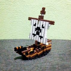 Pirate ship perler beads by anti_wick