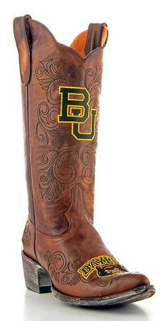 Baylor University Boots: Want to show your school spirit? Baylor Bears boots are perfect for tailgating, parties, and games. Baylor University, Cowboy Boots Women, Cowgirl Boots, Fashion Boots, Women's Fashion, Basketball Shoes, Leather Boots, Brass, Tiger Cubs
