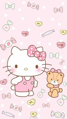 An apple a day helps the good mood to stay! Sanrio Wallpaper, Kawaii Wallpaper, Iphone Wallpaper, Walpaper Hello Kitty, Hello Kitty Wallpaper, Hello Kitty Vans, Hello Kitty Themes, Beautiful Wallpapers For Iphone, Cute Wallpapers