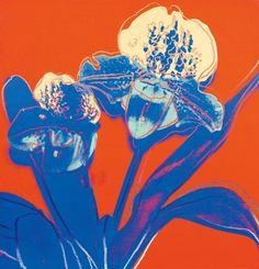 """ Andy Warhol (American, 1928-1987), Lady's Slipper (Paphiopedilum), 1983. Acrylic on canvas, 107 x 103 cm. """