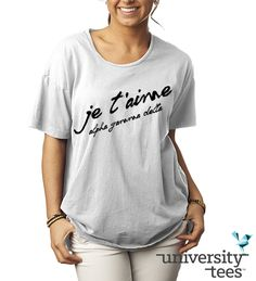 Falling in love with simple script   Alpha Gamma Delta   Made by University Tees   www.universitytees.com