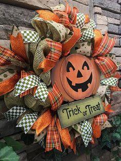 Halloween Wreaths Halloween Wreath Pumpkin Wreath Primitive