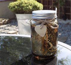 Firefly Mason Jar - Gold