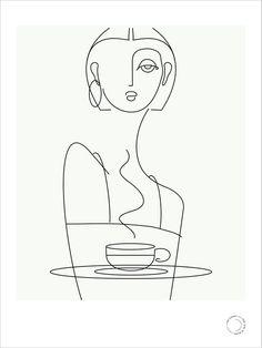 girl in black — café prints that girl in black — café prints,that girl in black — café prints, Minimal Woman Drinking Coffee / Tea Art One Line Art Minimalist Drawing, Minimalist Art, Minimalist Painting, Art And Illustration, Illustrations, Art Sketches, Art Drawings, People Drawings, Pencil Drawings
