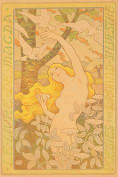 Paul Berthon, 'Le Livre de Magda', 1898. Vintage poster in Art Nouveau style.
