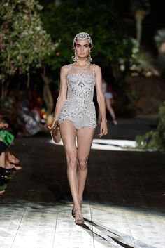 Blanca Padilla for Dolce & Gabbana Haute Couture Fall 2015 - Paris Fashion Week.