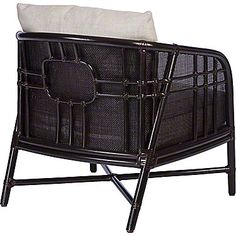 McGuire Furniture: Plaid Lounge Chair: A-101