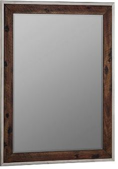 Home Accents Dark Distressed Wood Framed Wall Mirror on moonlightermade.com