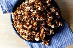 miso black sesame caramel popcorn