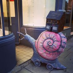 #brianthesnail helping us move into a new FARA Kids shop.