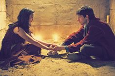 Merlin and Freya-the relationship that was only one episode, but was still a better love story than twilight
